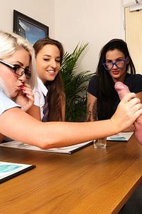 Group Sex With Three Schoolgirls