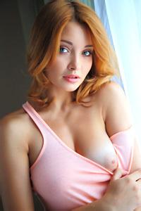 Busty Redhead Kika Shows Her Hot Body