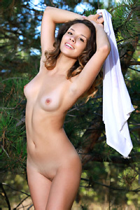 Arina In The Nature