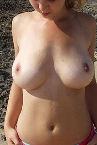 Big Titted Laura On The Shore