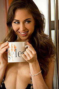 Riley Reid Drinks Her Morning Tea