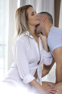 Sexy Blonde Teen Makes Love