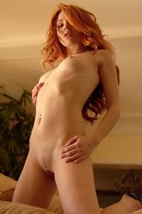 Redhead Jamie Langford Stripping