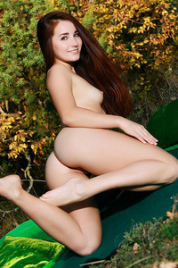 Beautiful Stefany Sonri Posing Outdoors