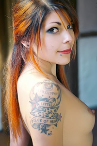 Hot Redhead Inked Chick
