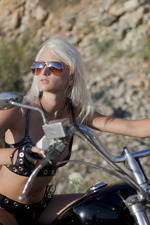 Hot Blonde Biker Girl Nika Masturbates Outdoors 00