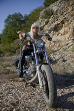 Hot Blonde Biker Girl Nika Masturbates Outdoors 01