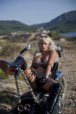 Hot Blonde Biker Girl Nika Masturbates Outdoors 03