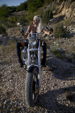 Hot Blonde Biker Girl Nika Masturbates Outdoors 06