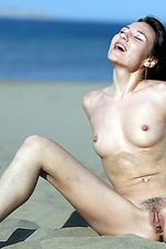 Lila In Hot Sand 15