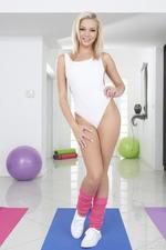 Skinny Blonde Tiffany Watson Slips Out Of Her Bodysuit 00
